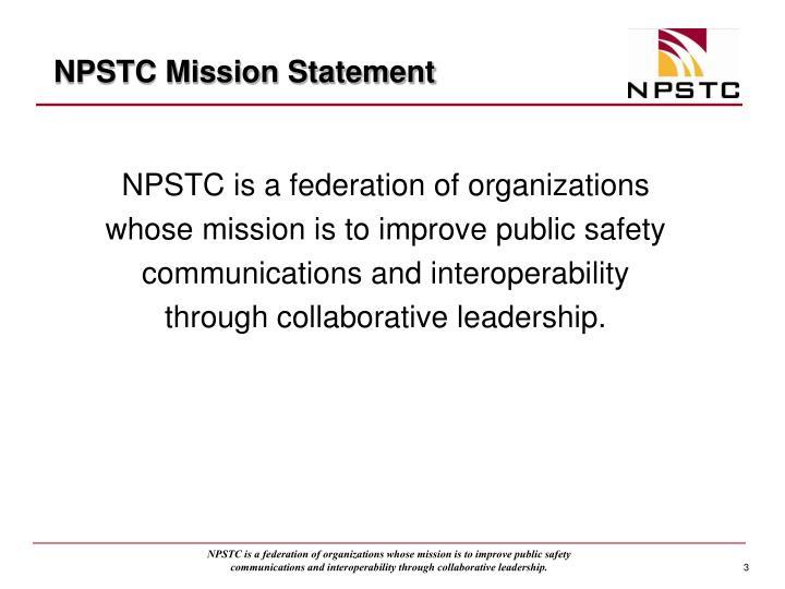 Npstc mission statement