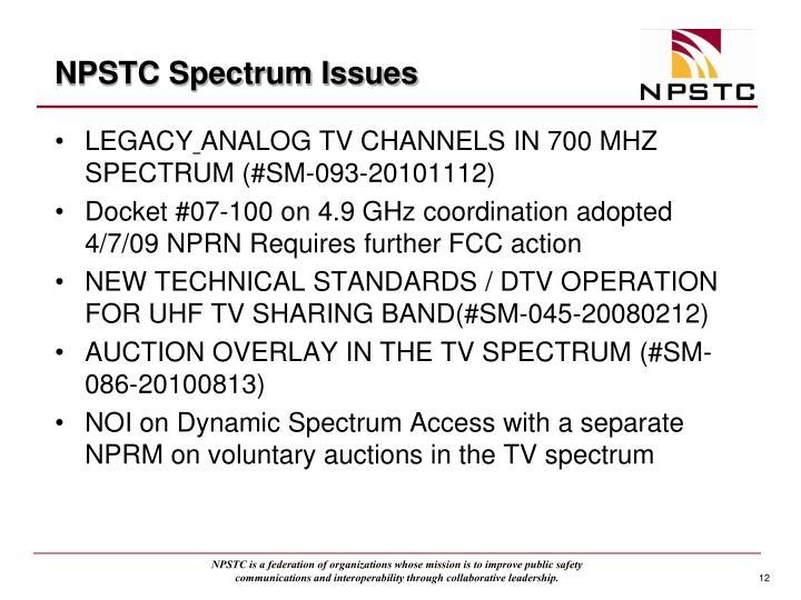 NPSTC Spectrum Issues