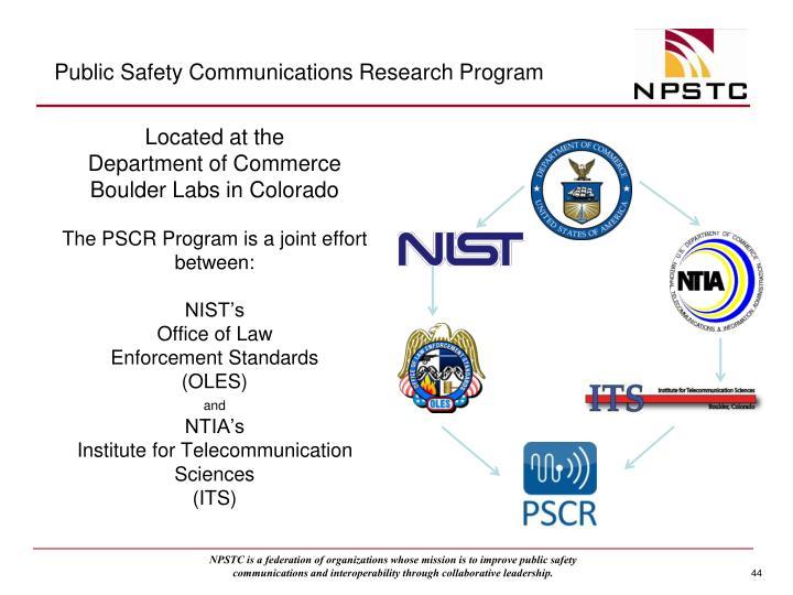 Public Safety Communications Research Program