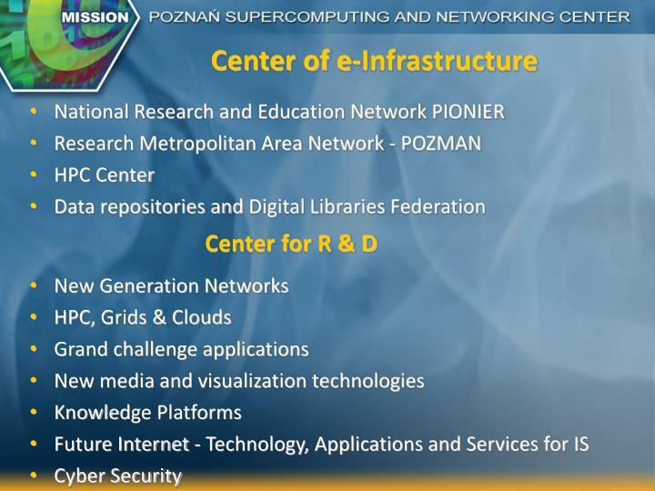 Center of e-Infrastructure