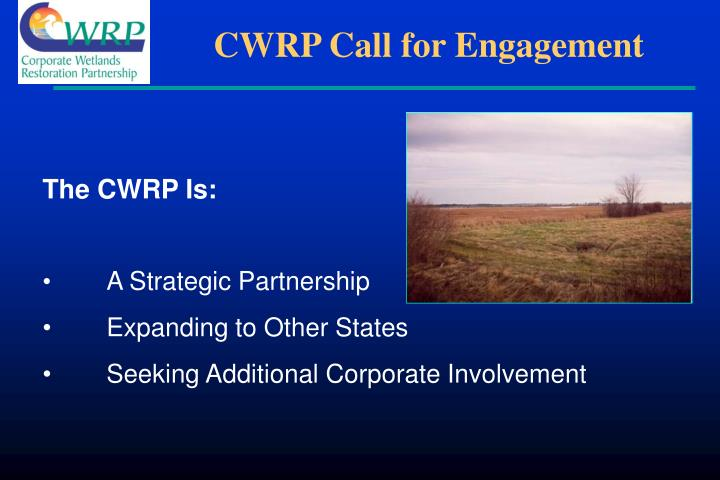 CWRP Call for Engagement