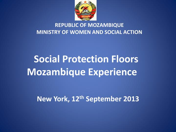 social protection floors mozambique experience n.