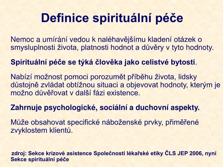 Definice spirituální péče