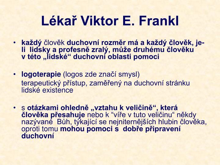Lékař Viktor E. Frankl