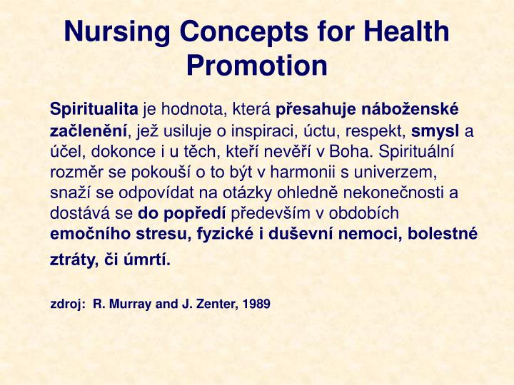Nursing Concepts for Health Promotion