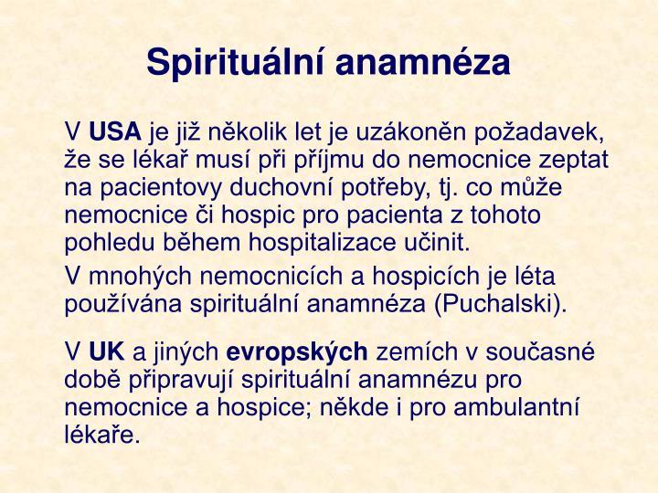 Spirituální anamnéza