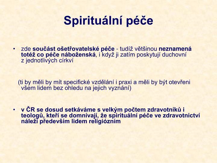 Spirituální péče