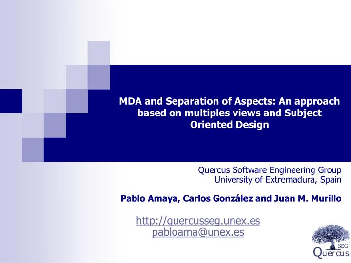 MDA and Separation of Aspects: An approach based on multiples views and Subject Oriented Design