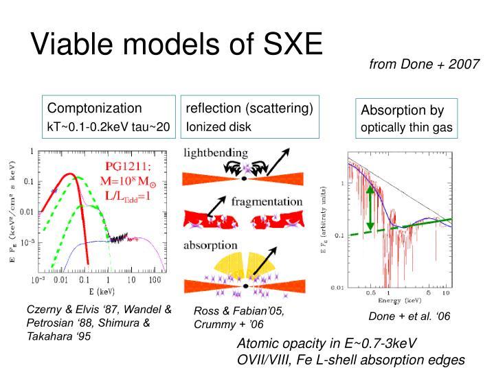 Viable models of SXE