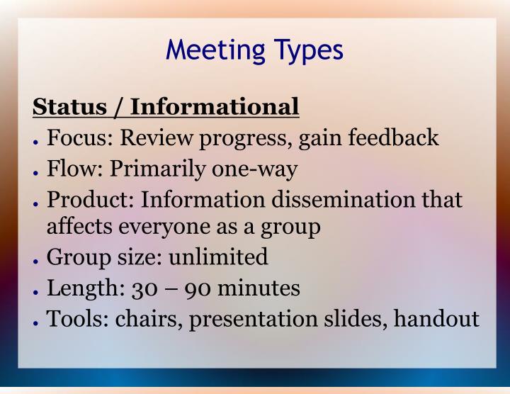 Meeting Types