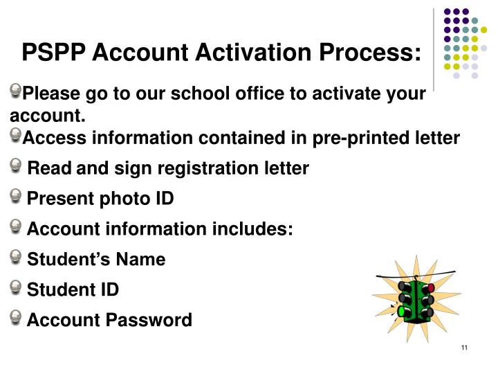 PSPP Account Activation Process: