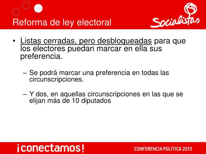 Reforma de ley electoral