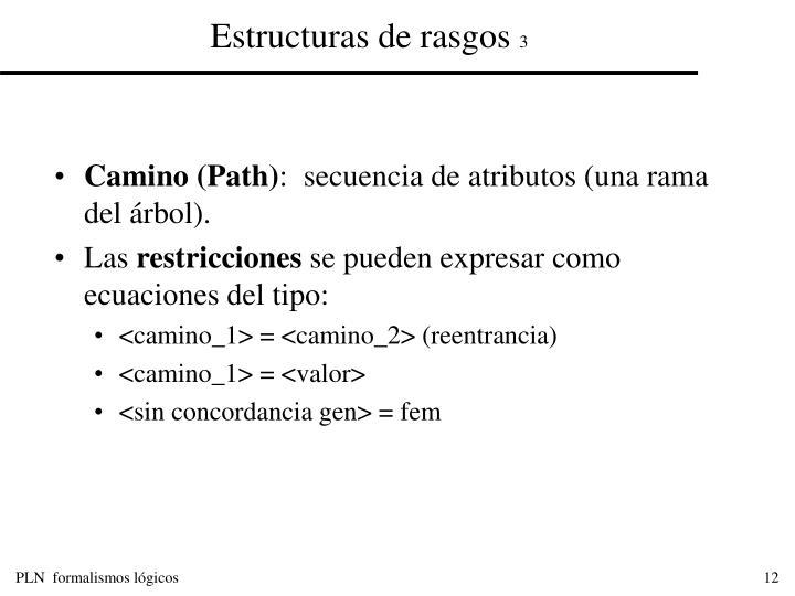 Estructuras de rasgos