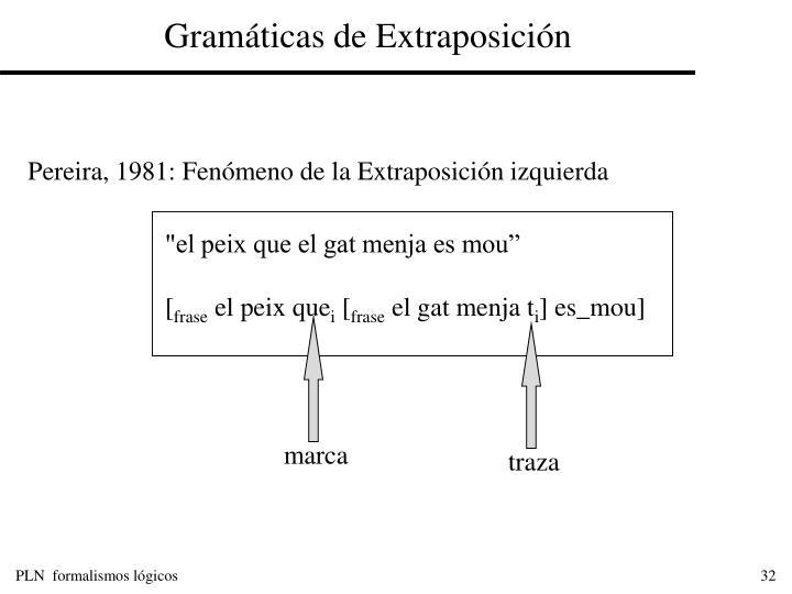 Gramáticas de Extraposición