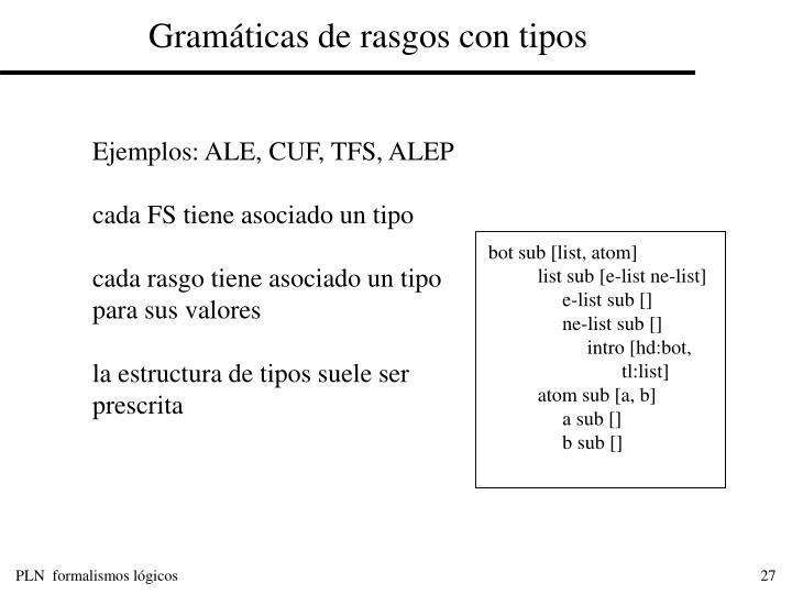 Gramáticas de rasgos con tipos