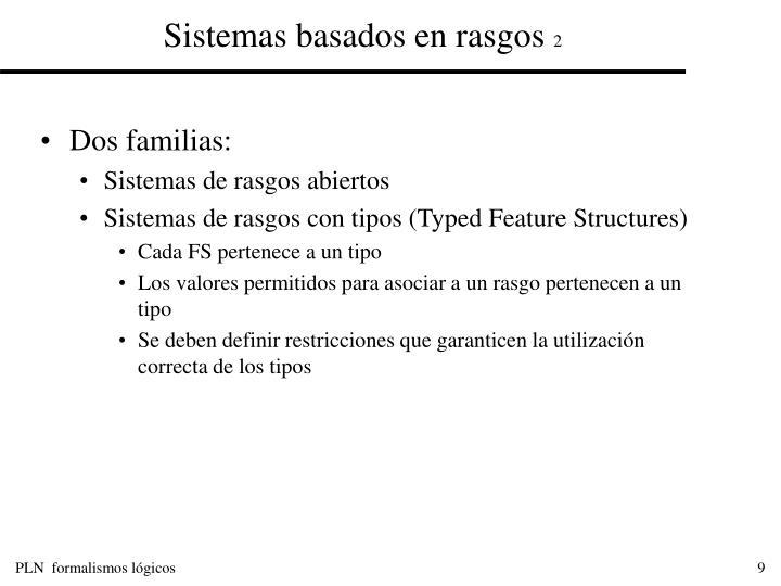 Sistemas basados en rasgos