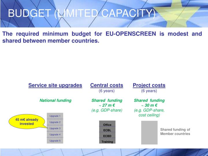 BUDGET (LIMITED CAPACITY)