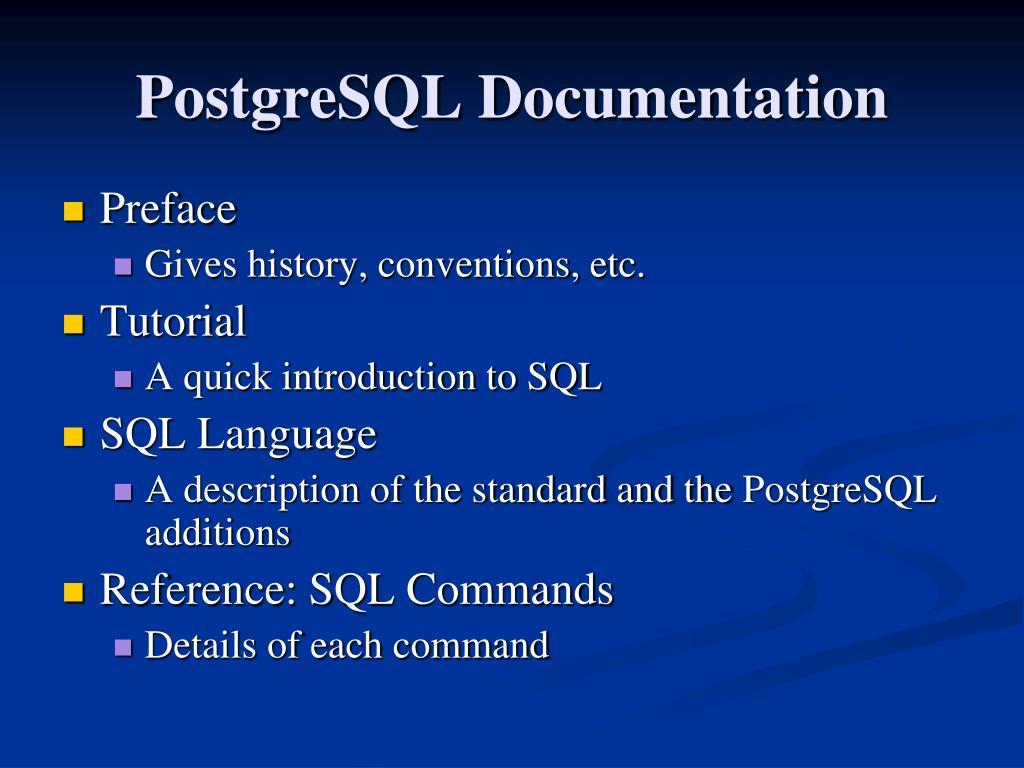PPT - Intro to PostgreSQL PowerPoint Presentation - ID:4747721