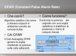 cfar constant false alarm rate