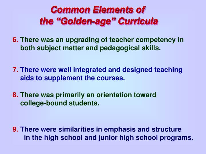 Common Elements of