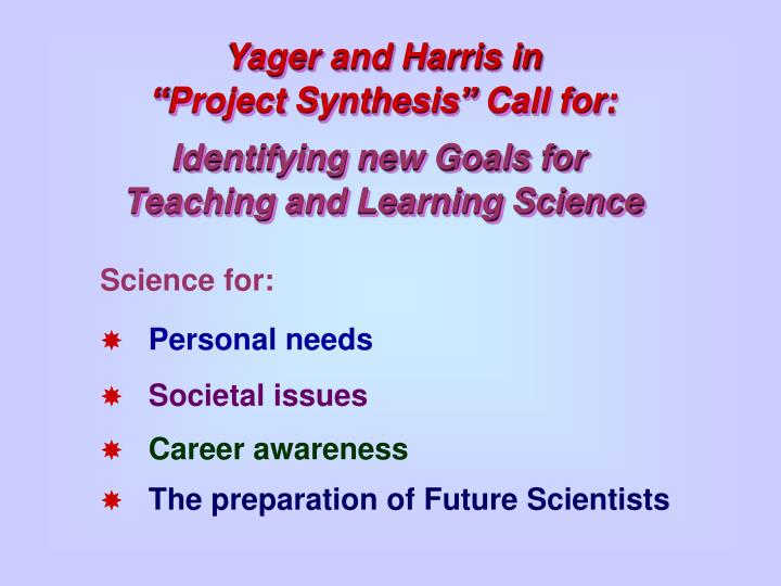 Yager and Harris in