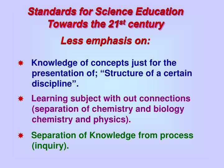 Standards for Science Education