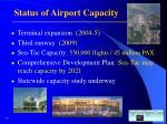 status of airport capacity