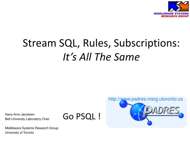 stream sql rules subscriptions it s all the same