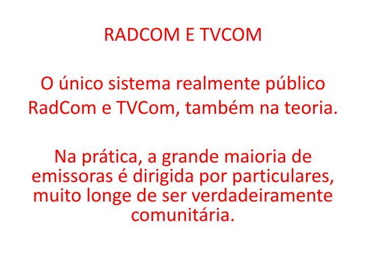 RADCOM E TVCOM