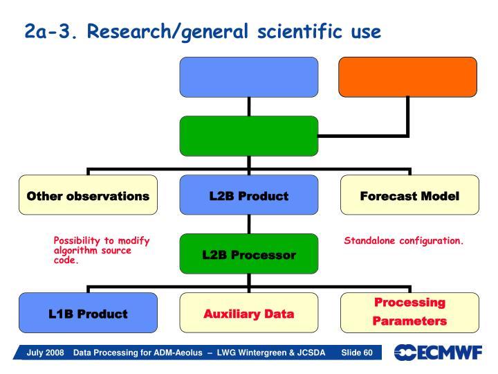 2a-3. Research/general scientific use