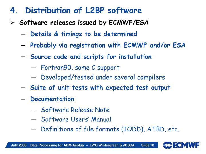 4.  Distribution of L2BP software