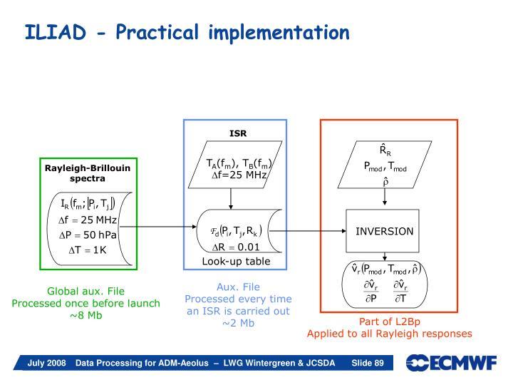 ILIAD - Practical implementation