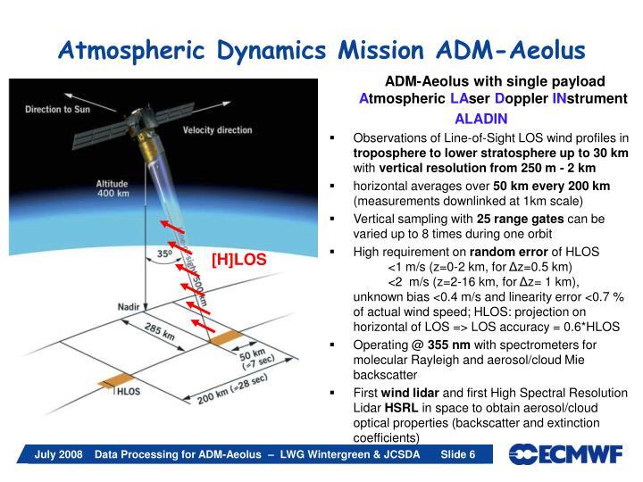 Atmospheric Dynamics Mission ADM-Aeolus