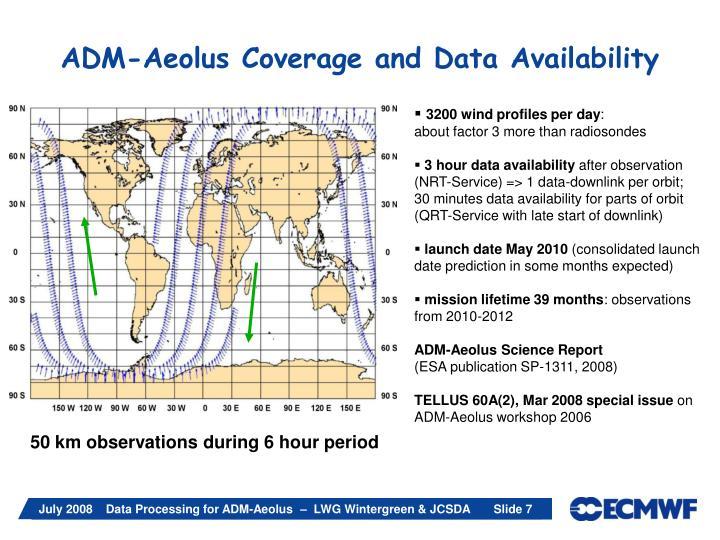 ADM-Aeolus Coverage and Data Availability