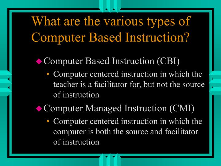 what are the various types of