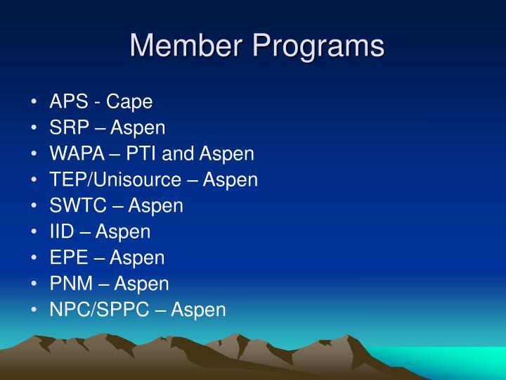 Member Programs