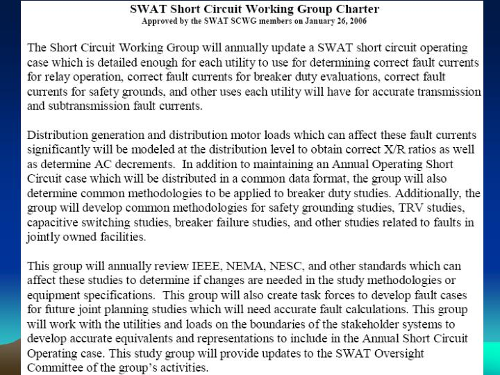 SWAT SCWG Charter