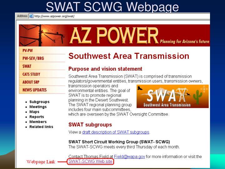 SWAT SCWG Webpage