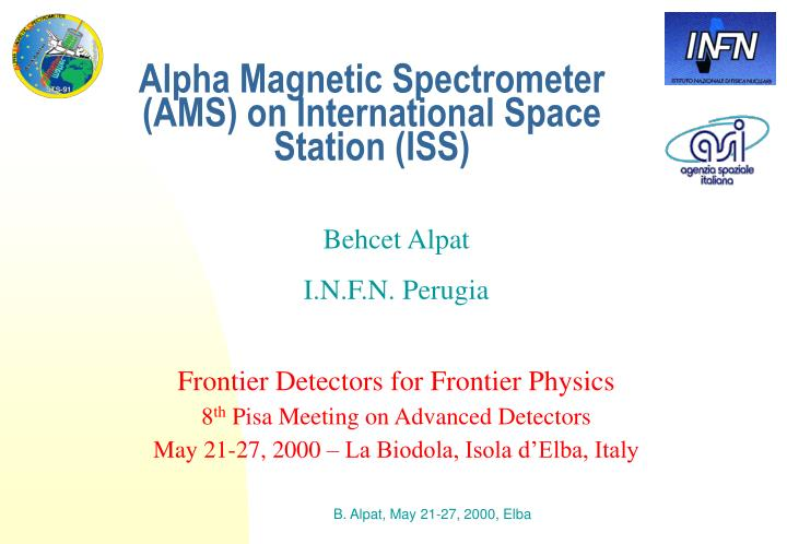alpha magnetic spectrometer ams on international space station iss n.