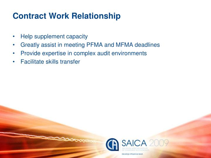 Contract Work Relationship