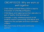cbcap eccs why we work so well together