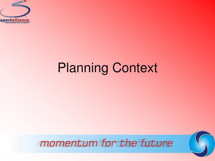 planning context n.