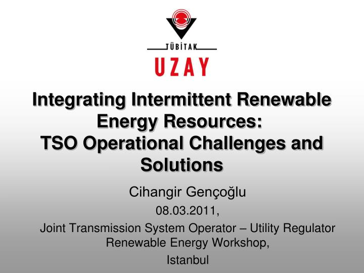Integrating intermittent renewable energy resources tso operational challenges and solutions