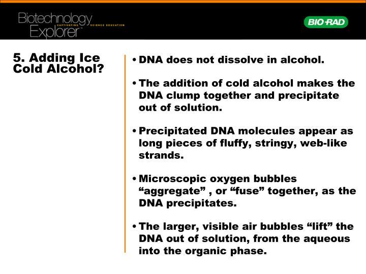 5. Adding Ice Cold Alcohol?
