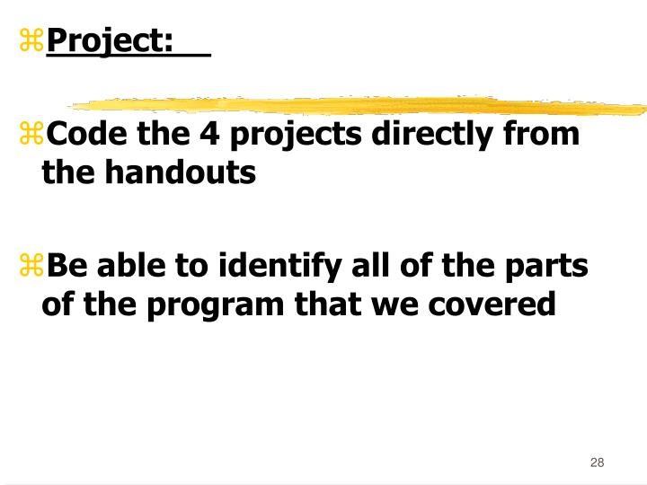 Project: