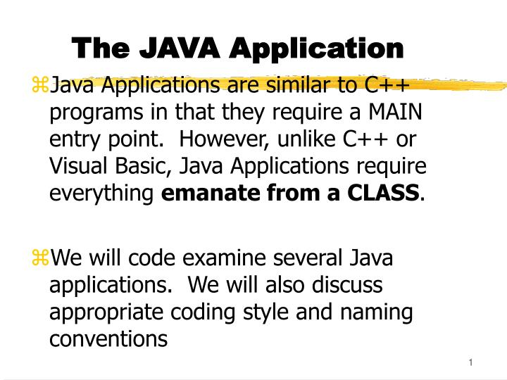 PPT - The JAVA Application PowerPoint Presentation - ID:4748831