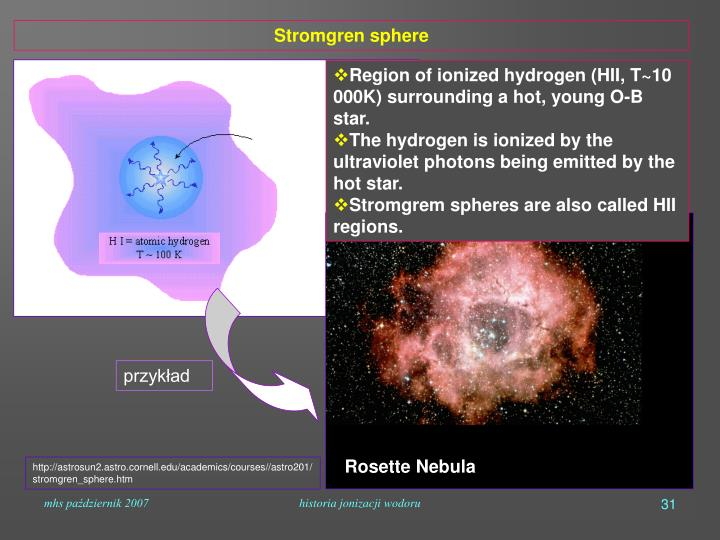 Stromgren sphere