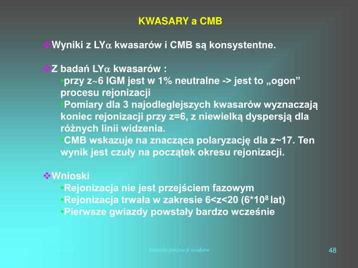 KWASARY a CMB