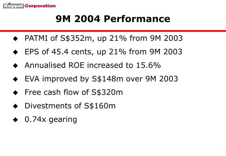 9M 2004 Performance