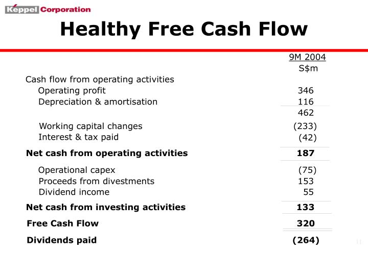 Healthy Free Cash Flow